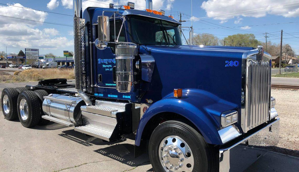 Burningham Trucking, Blue Kenworth, 280