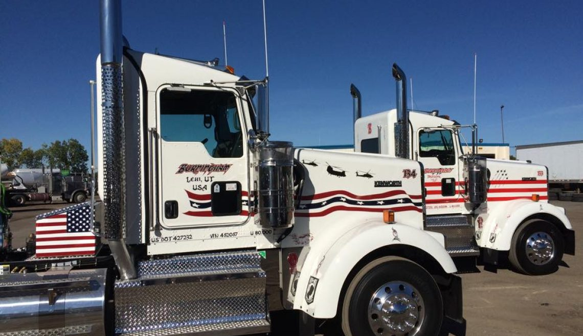 Burningham Trucking, Patriotic Trucks, Kenworth Red White & Blue