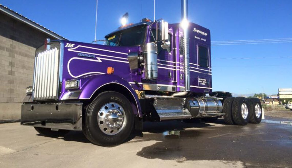 Burningham Trucking, Purple Kenworth, 155