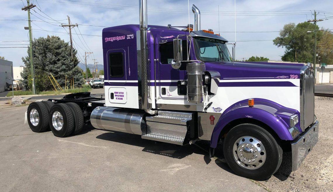 Burningham Trucking, Purple Kenworth, 199